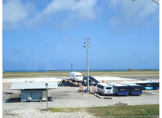 Aeroplane on tarmac at Grantley Adams INt'l Airport
