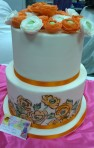 Hand painted sugar flower cake